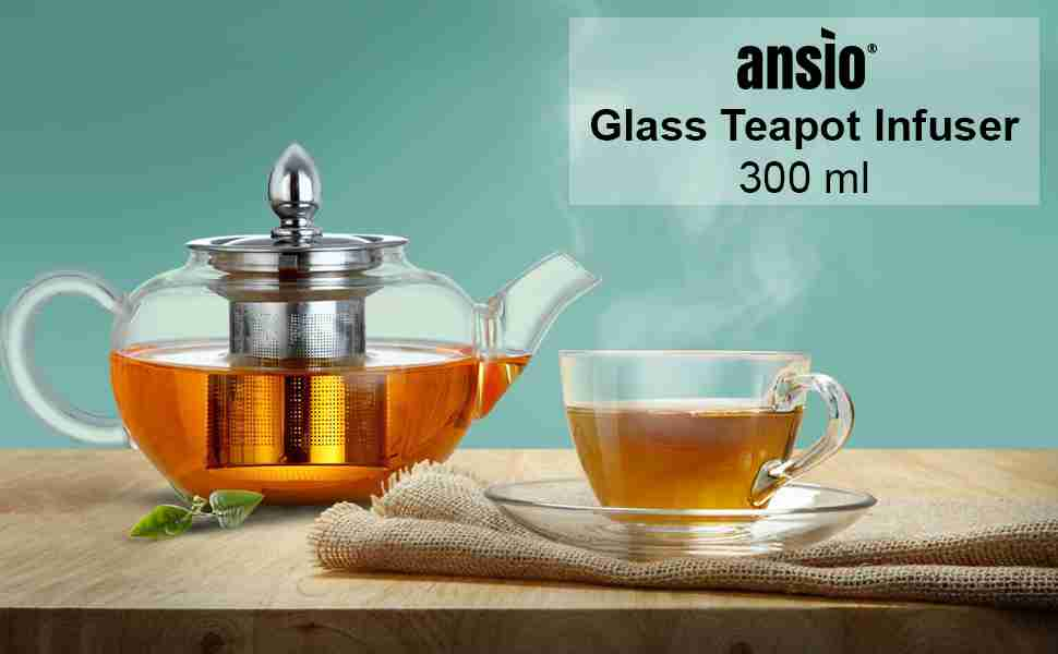 Ansio Small Glass Teapot With Infuser